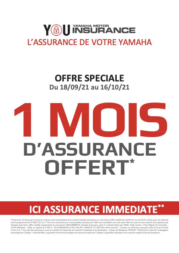 Assurance Yamaha - 1 mois offert